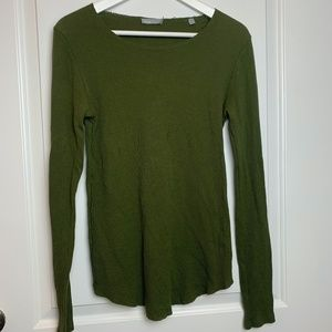 Vince Long Sleeve Thermal Top Large Green
